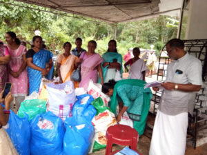 Segregating Flood Relief Materials