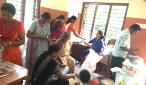 Sep 2019 - St. John's Orthodox Church Pampady Marthmariyam Samajam packing onakits